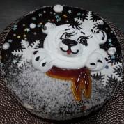 """Торт """"Мишка на Севере"""""""